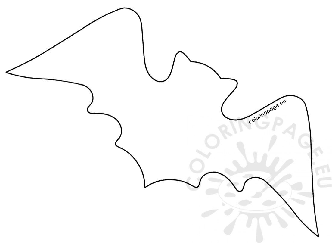 image about Bat Template Printable named Hefty bat template printable Coloring Web site