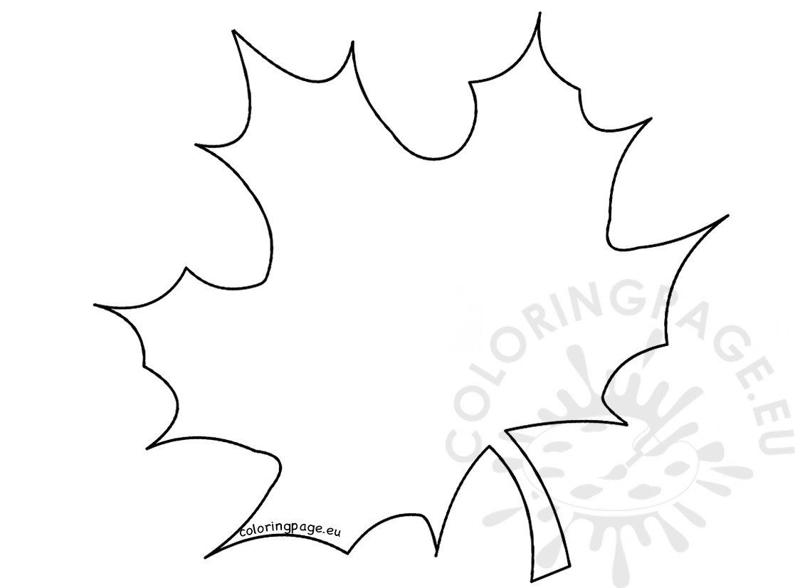 Large Maple Leaf template - Coloring Page