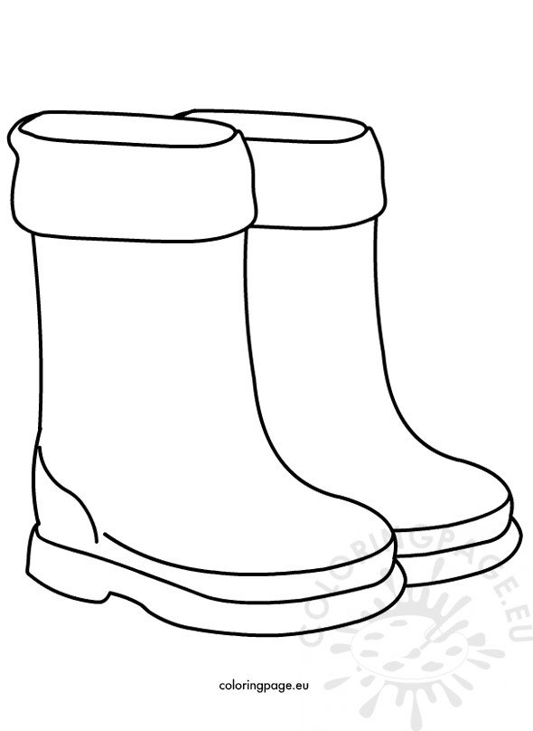 Rain Boots Children Shoes Coloring