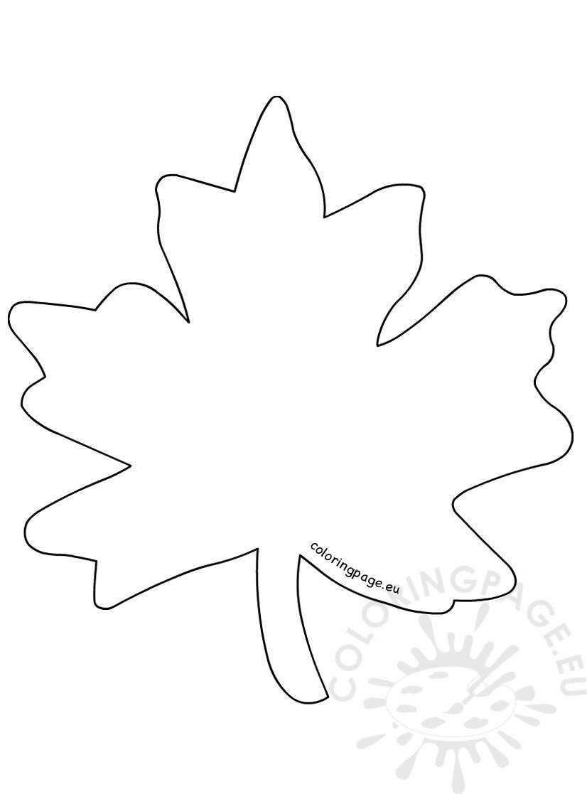Simple maple leaf coloring page printable - Coloring Page