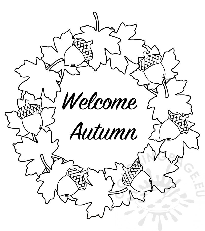 Wele Autumn with wreath of leaves