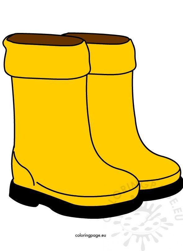 Yellow rain boots Children Shoes