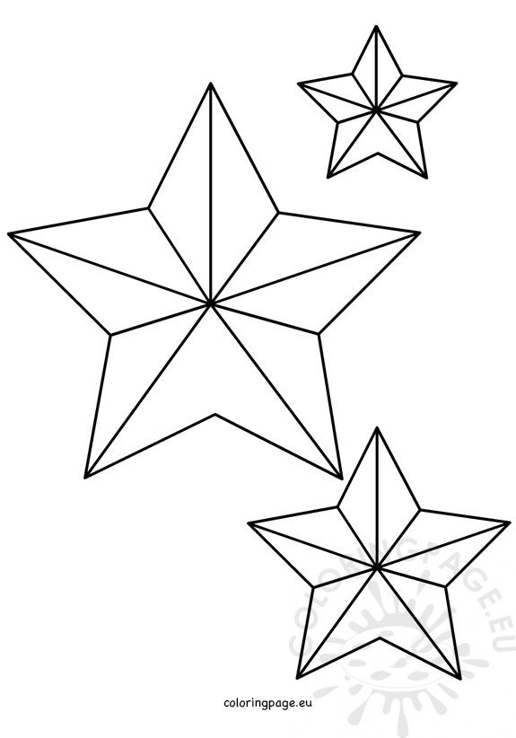 five pointed christmas star shape  u2013 coloring page