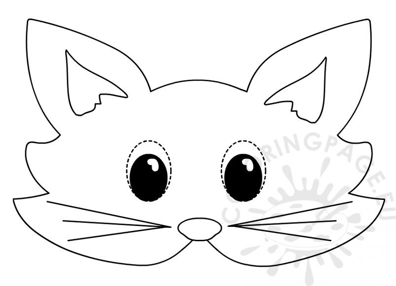 picture about Cat Mask Printable known as Cat mask Printable animal masks in direction of shade Coloring Site