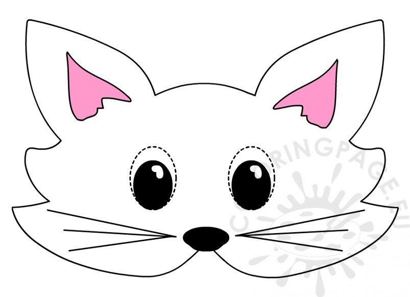 Cat mask template Printable animal