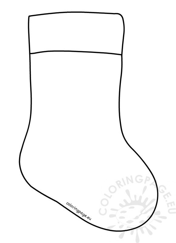 photograph regarding Printable Stocking Patterns titled Xmas Stocking Template printable Coloring Site