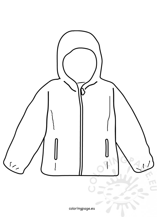 A new coat for anna coloring pages ~ Coat winter jacket template – Coloring Page