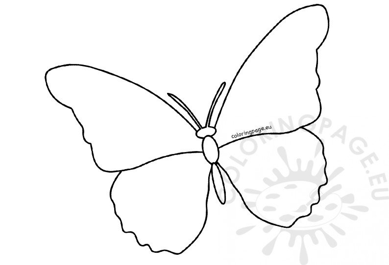 Large butterfly cutout template Coloring Page