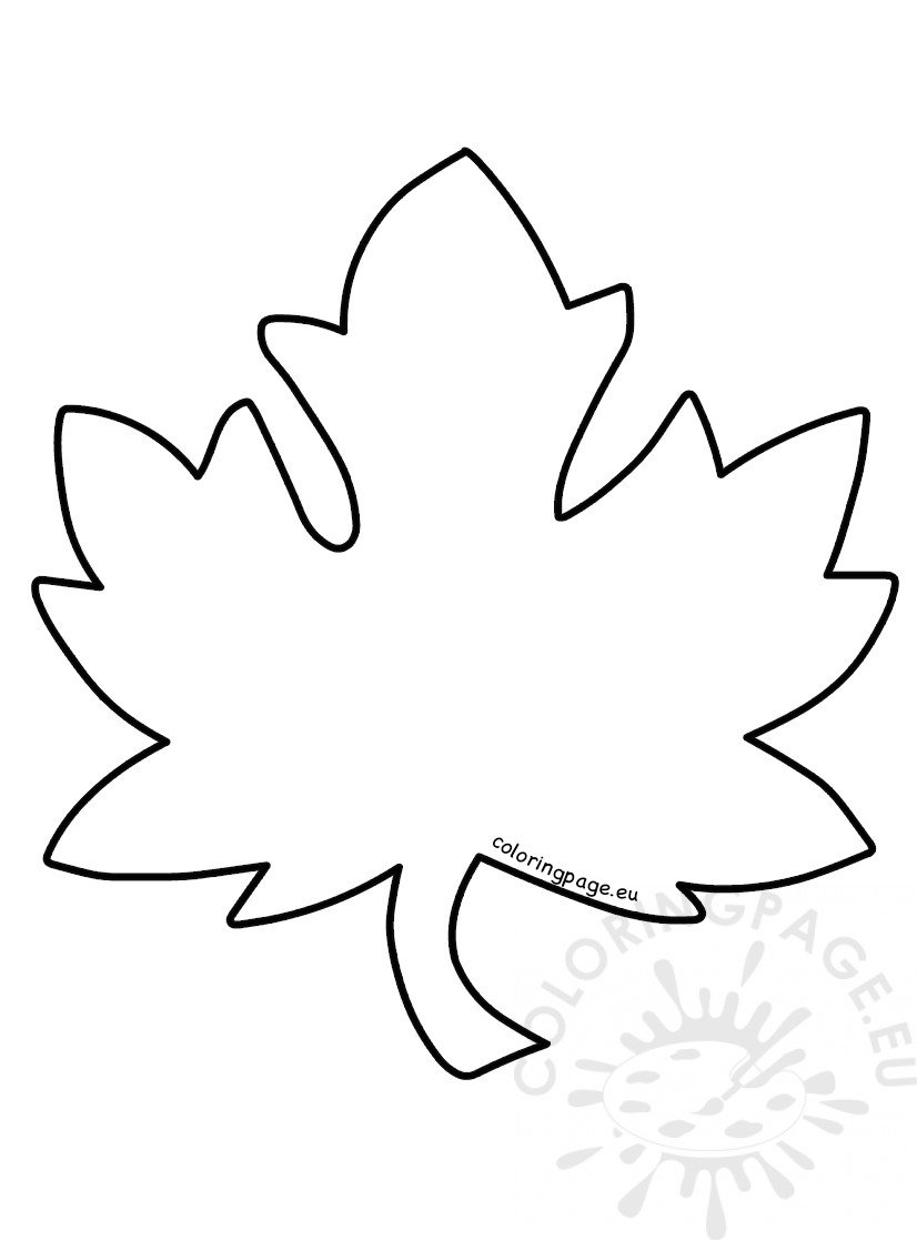 Leaf template Fall leaves ideas - Coloring Page