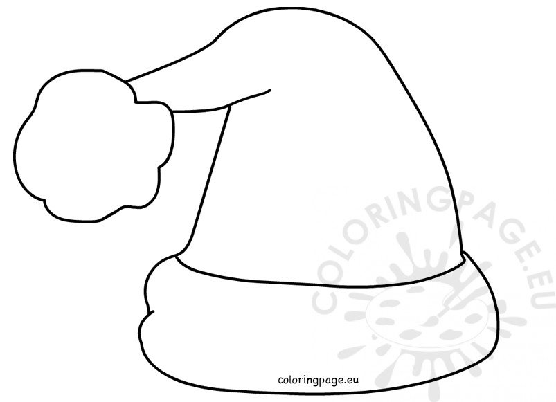Santa Claus hat printable outline for crafts Coloring Page