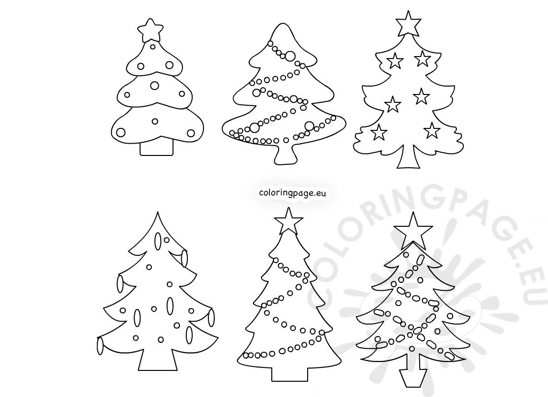 Christmas Tree Star Coloring Page - Get Coloring Pages   807x1115