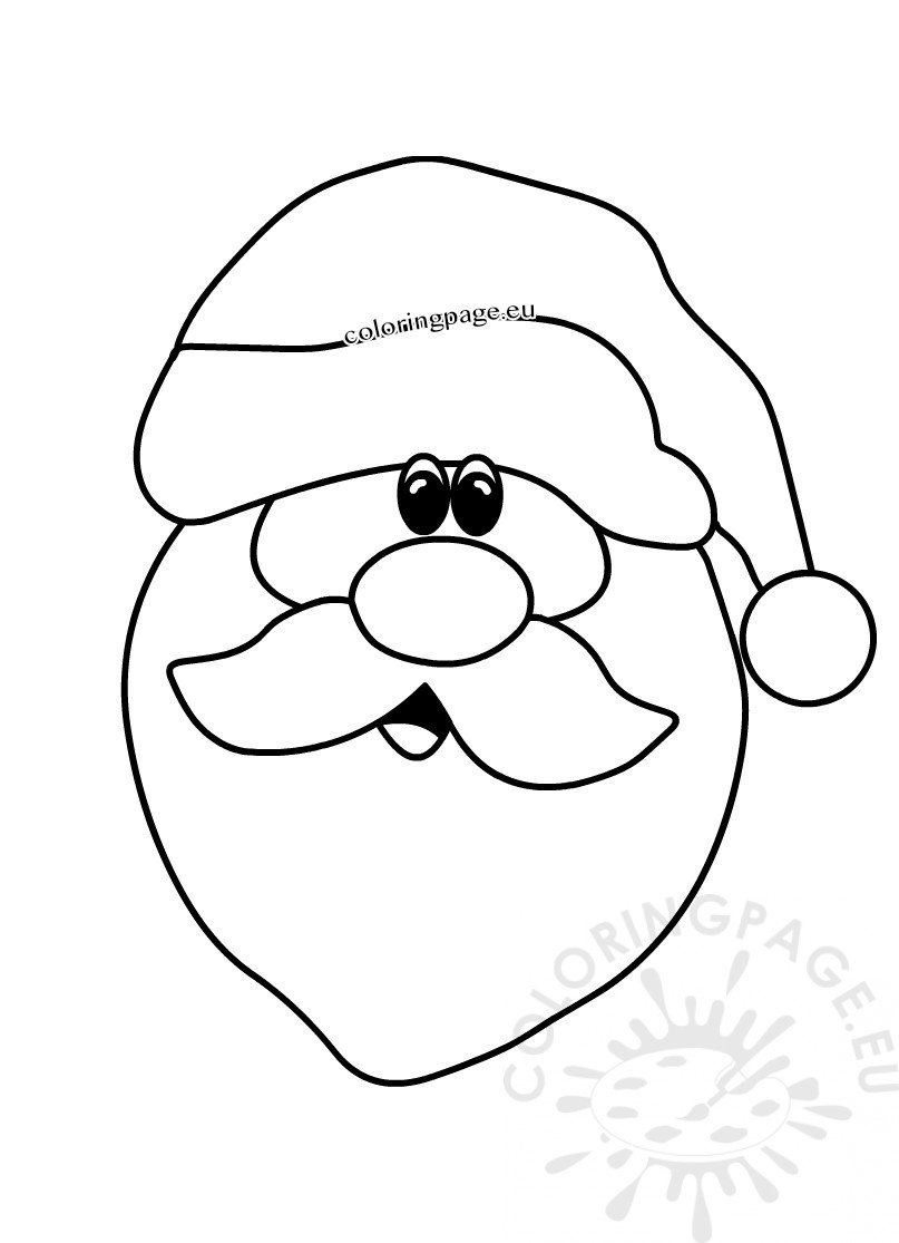 christmas drawings happy santa claus face coloring page coloring page