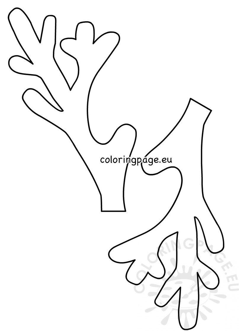 Christmas Reindeer Antlers template - Coloring Page