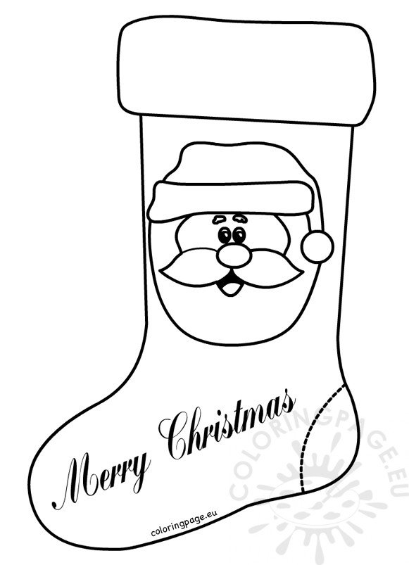 Christmas Xmas Stocking Coloring Pages For Preschool Coloring Page