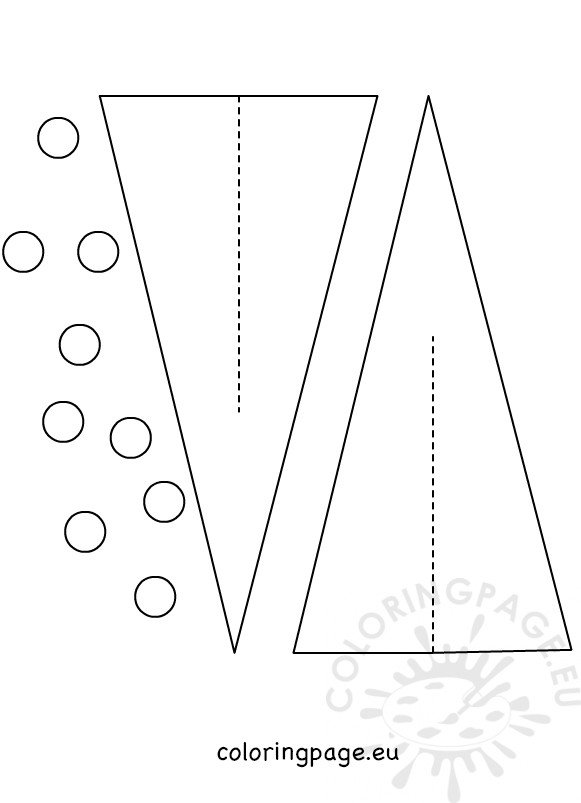 3d Paper Christmas Tree Template.Paper Christmas Tree Templates 3d Coloring Page