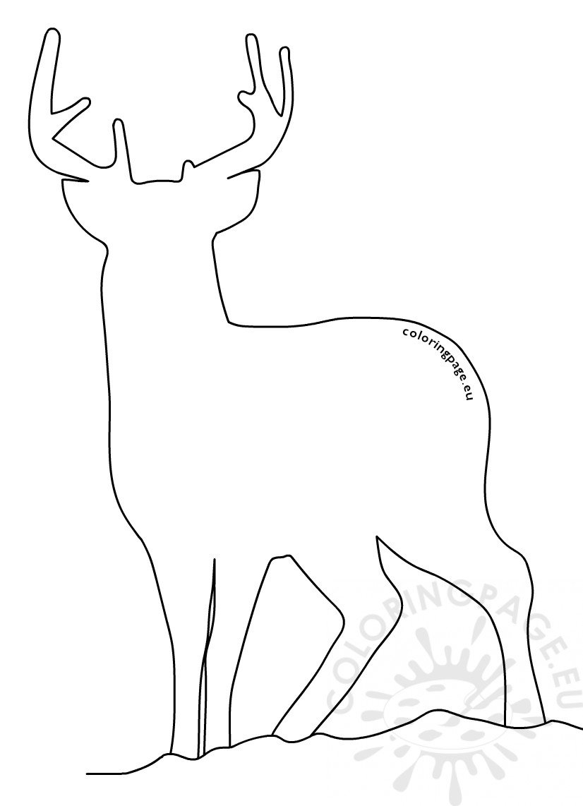 image relating to Printable Reindeer Template referred to as Printable reindeer template Christmas Crafts Coloring Site