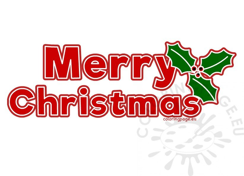 red merry christmas letters printable  u2013 coloring page