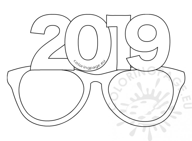 Printable Paper party glasses 2019