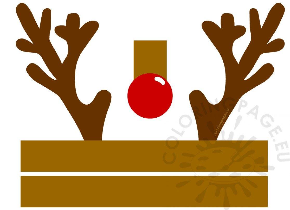 christmas reindeer hat craft printable  u2013 coloring page