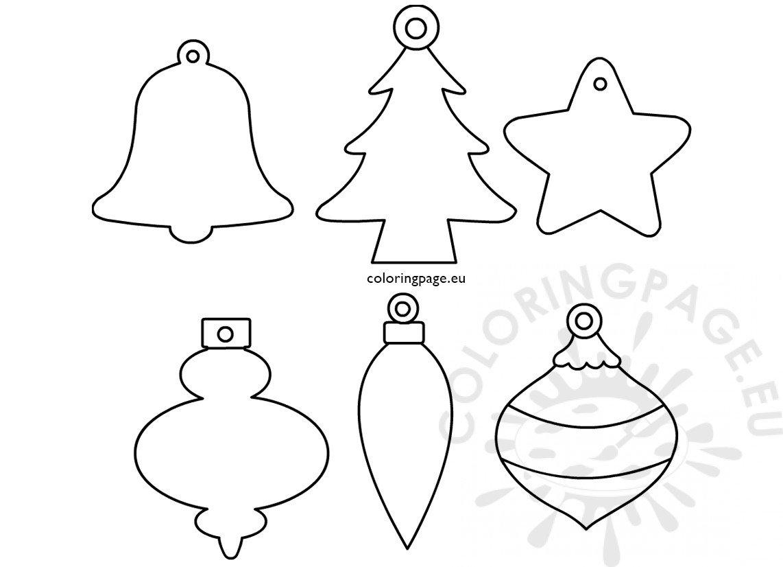 Set Christmas ornament shapes printable - Coloring Page