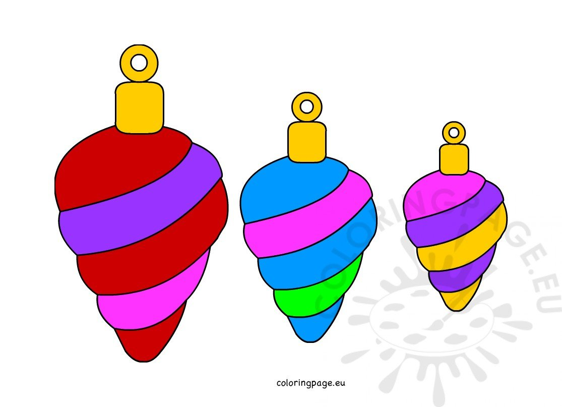 - Christmas Ornaments Color Cut Out – Coloring Page