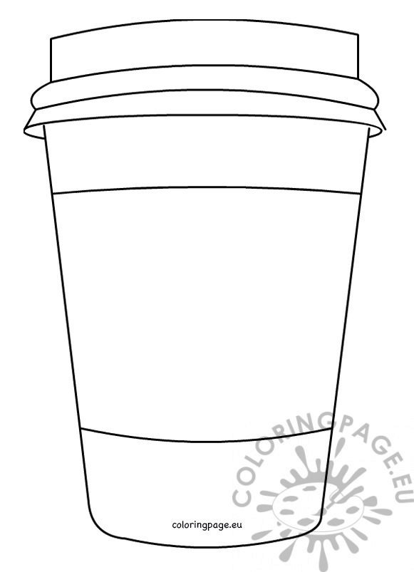 Closed Coffee paper cup template