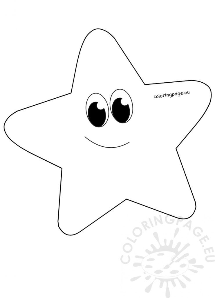 Star Picture To Color Whimsical Cartoon Star clipart printable Coloring Page