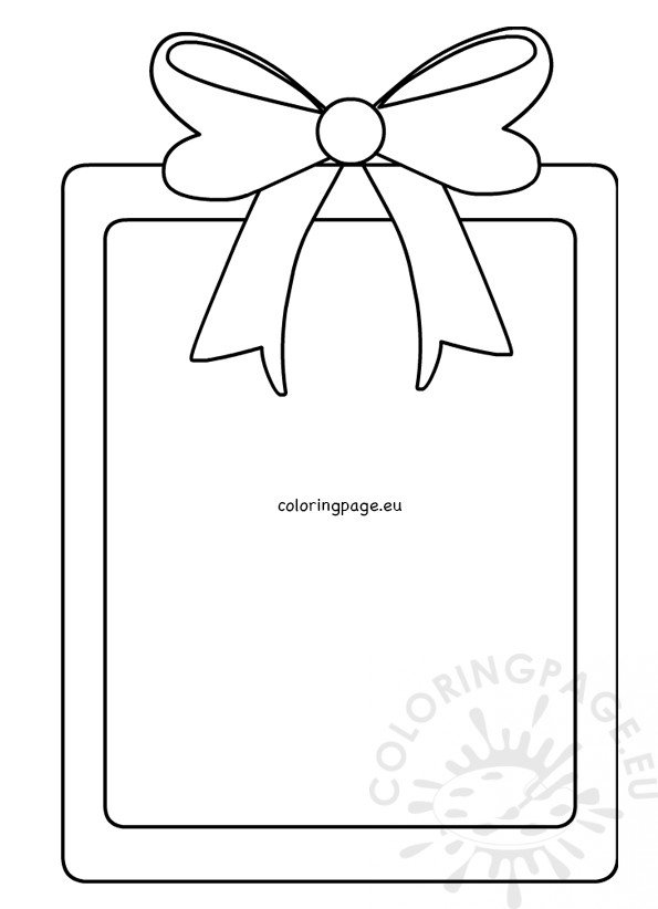image about Bow Template Printable named Reward box with bow template printable Coloring Webpage