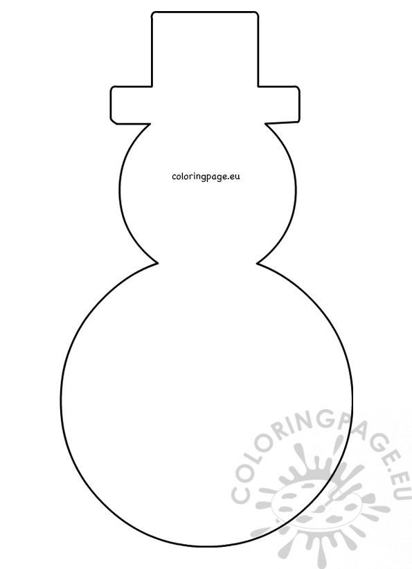 large snowman hat pattern printable  u2013 coloring page