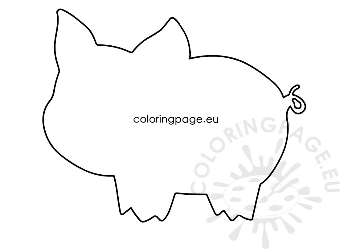 photograph relating to Pig Template Printable named Minimal pig template printable Coloring Site