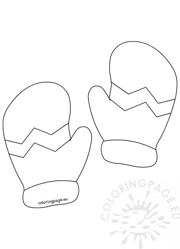 Mittens pattern small printable