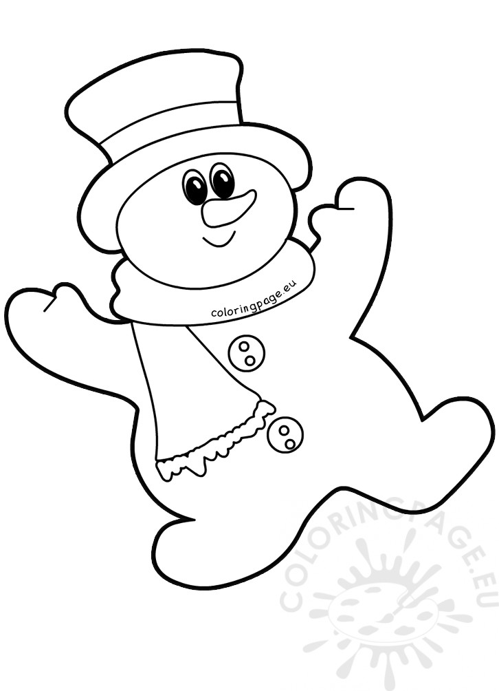 Snowman Hanging ornaments Christmas tree – Coloring Page