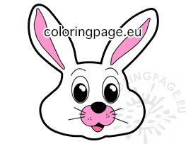picture relating to Bunny Face Printable titled Easter lovely bunny facial area reduce out printable Coloring Web site