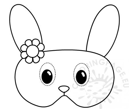 Easter Bunny mask coloring
