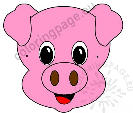 image regarding Printable Pig Mask titled Pig deal with mask printable Paper Pig Mask Coloring Web page