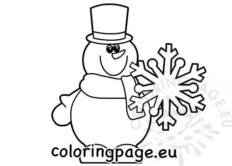 Outline Winter snowman