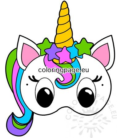 photograph about Printable Unicorn Mask identify Printable Unicorn social gathering paper mask Coloring Web page