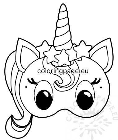 photo relating to Printable Unicorn Mask known as Unicorn paper mask template Coloring Web site