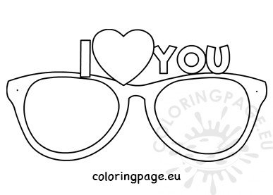 I love you eyeglasses template