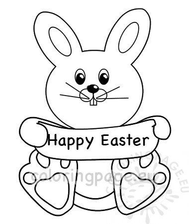 happy easter bunny template