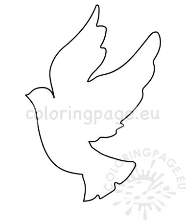Flying dove template