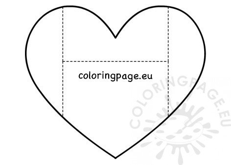 Heart Envelope coloring page