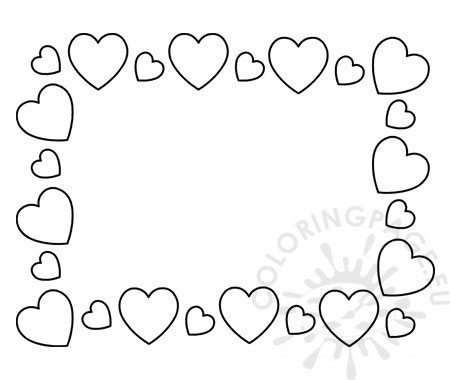 Hearts frame printable