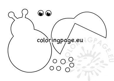 photograph regarding Ladybug Template Printable referred to as Ladybug Behavior Printable Minimize Out Coloring Webpage