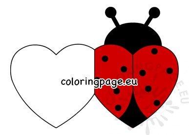 Ladybug Valentine Heart