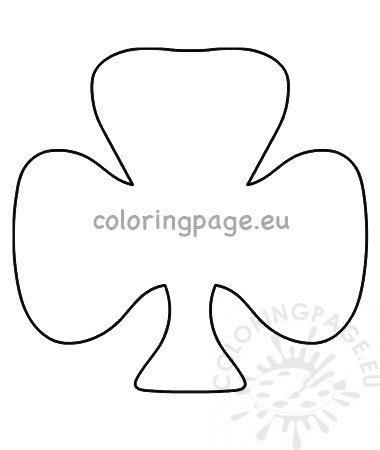 This is a graphic of Shamrock Template Printable Free within outline