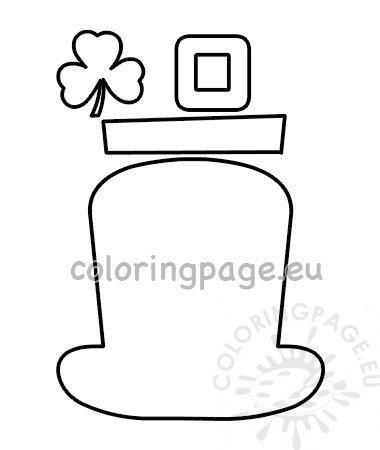 ffba312eb43 Leprechaun hat pattern St Patrick s day craft – Coloring Page