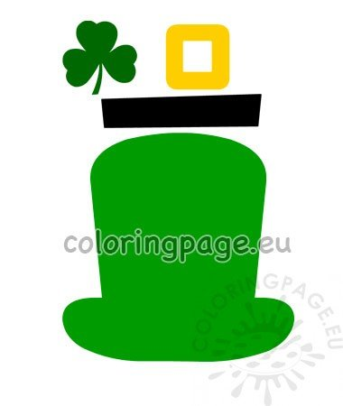 image relating to Leprechaun Template Printable known as Paper craft Leprechaun Hat template Coloring Website page