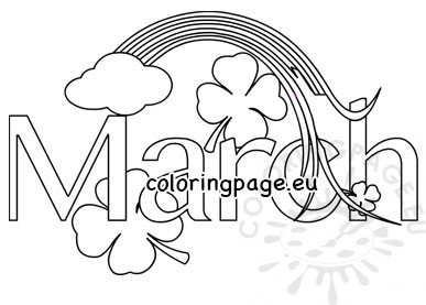 March month coloring page