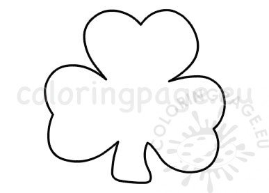 st patrick's day shamrock template  coloring page